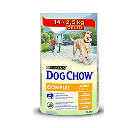 Croquettes dog chow complet chicken 14kg+2,5kg offerts