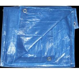 Bache eco bleu royal 5x8m.